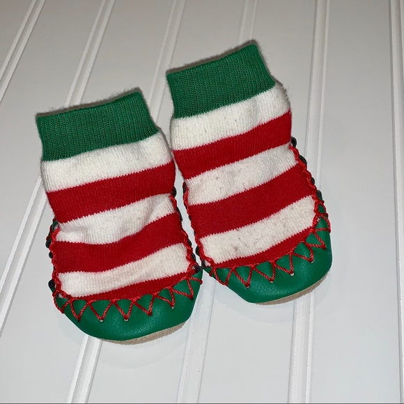 Hanna Andersson Other - Hanna Anderson Christmas Slipper Moccasins 0-3
